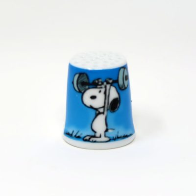 Weightlifting Snoopy Thimble