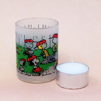 Peanuts Baseball Votive Candle