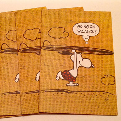 Surfing Snoopy Greeting Cards