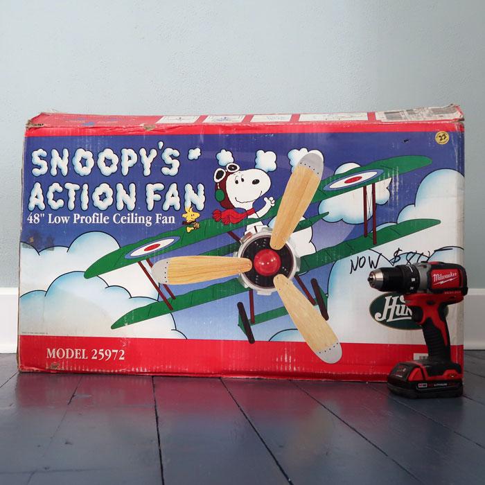 DIY Snoopy Fan Installation