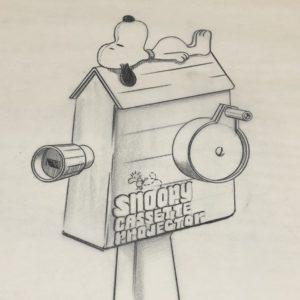 Snoopy Cassette Projector Artwork