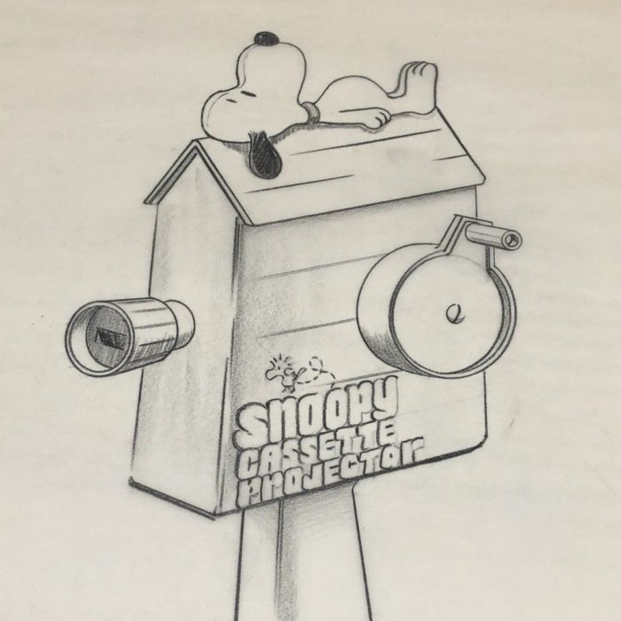 Snoopy Cassette Projector Artwork
