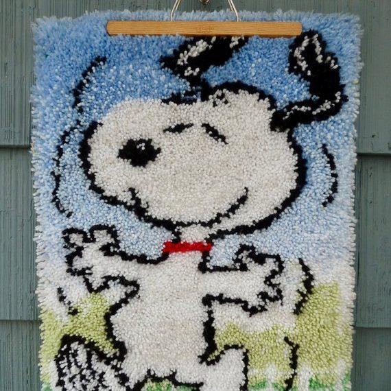 Snoopy Latch Hook Rug