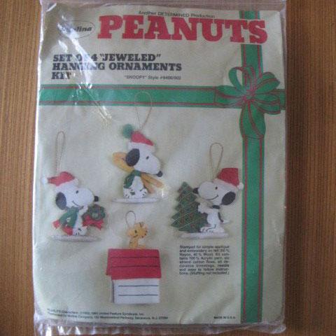 Snoopy Jeweled Christmas Ornaments Kit