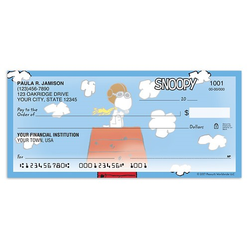Peanuts Checks, Checkbook Covers & More