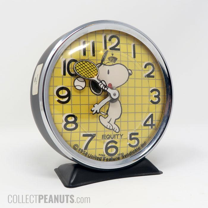 Snoopy with Tennis Racket Alarm Clock