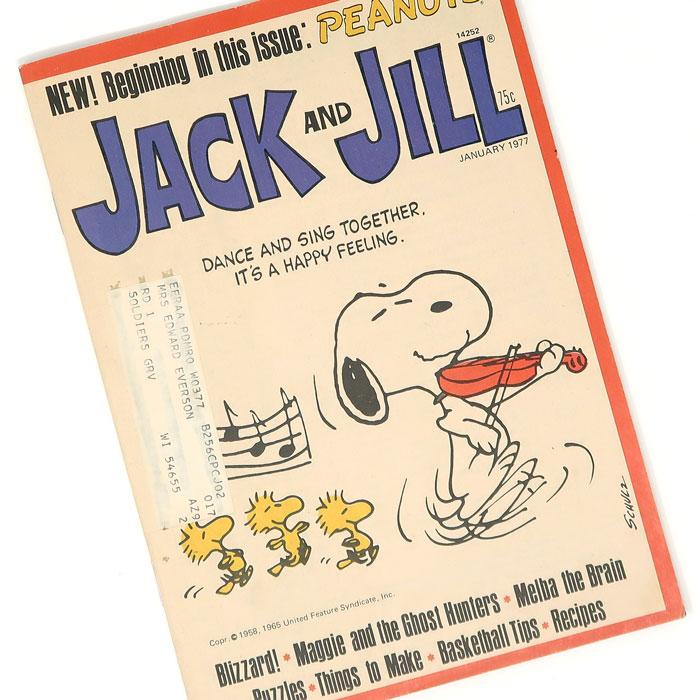 Peanuts in Jack and Jill Magazine