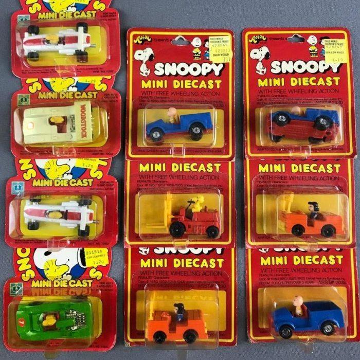 Snoopy Mini Diecast Vehicles