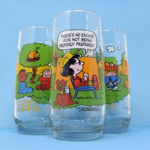 Be Prepared with a Lucy Camp Snoopy Glass
