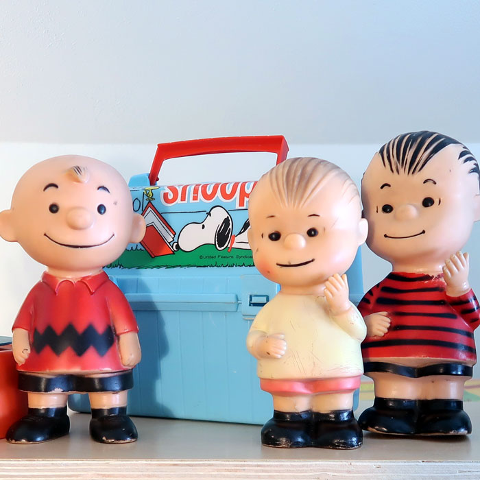 Hungerfords and their friend, at home in the Snoopy Room
