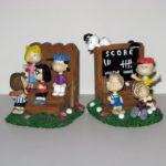 Peanuts gang with fence Bookends
