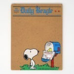 Woodstock in mailbox holding newspaper for Snoopy Cork Board