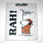 Snoopy Fan with flag 'Rah!' Folder Clipboard