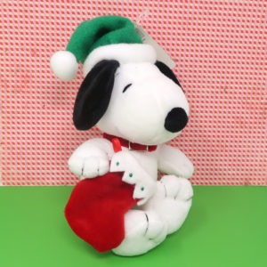 Snoopy Holding Stocking Christmas Plush