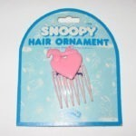 Snoopy on heart Hair Pick
