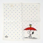 Snoopy & Woodstock under umbrella with rain Handkerchief, Hallmark