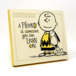 Charlie Brown and Snoopy 'Lean on' Plaque