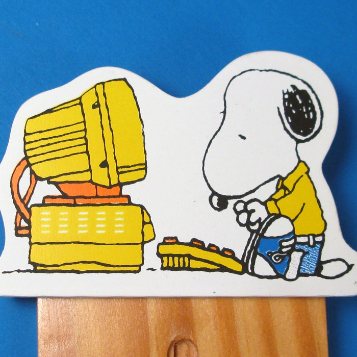 Snoopy at a Computer Thermometer