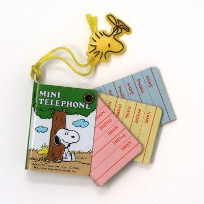 Snoopy and Woodstock Mini Telephone Book