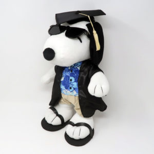 Graduate Snoopy Joe Cool wearing Hawaiian Shirt Plush Toy