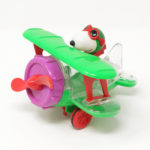 Green Snoopy Air Plane Candy Container