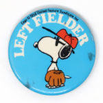 Baseball Snoopy Button