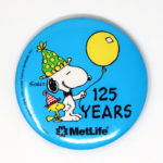 Snoopy Metlife 125 Years Anniversary Button