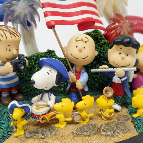 Peanuts Patriotic Fourth of July Sculpture