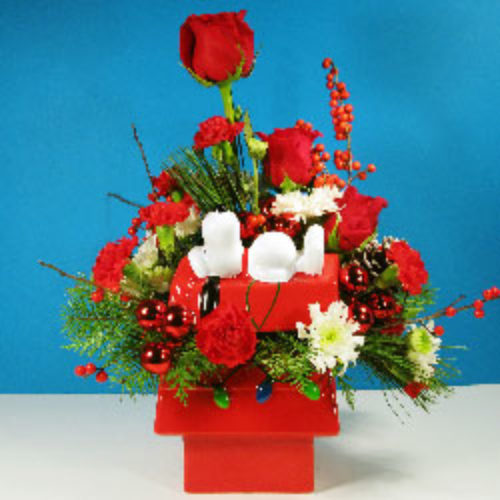 The Snoopy Cookie Jar Bouquet - Front View