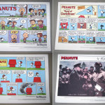 4 Peanuts Collector Comic Prints from the Star-Telegram Newspaper