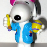 Snoopy Blue Easter Egg artist PVC Figurine