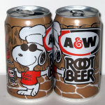 Snoopy Joe Cool & Woodstock grilling A&W Root Beer Can
