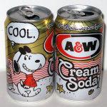 Snoopy Joe Cool on the Beach A&W Cream Soda Can