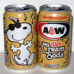 Snoopy Joe Cool dancing A&W Diet Cream Soda Can