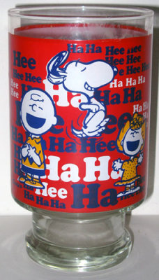 Peanuts Gang Laughing Glass Vase
