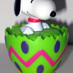 Snoopy Easter Egg Container - Green