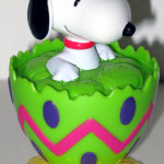 Snoopy Easter Egg Container - Green & Yellow