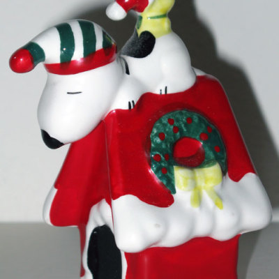Snoopy & Woodstock on Doghouse Ornament