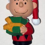 Charlie Brown holding present Ornament