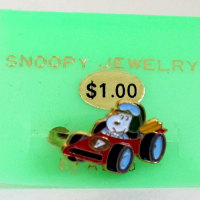 Snoopy Race Car Ring