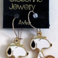 Snoopy with Tennis Racket Earrings