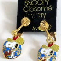 Snoopy Cowboy with Guitar Clip-on Earrings