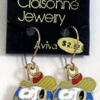 Snoopy Cowboy with Guitar Earrings