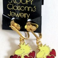 Woodstock with hearts Clip-on Earrings