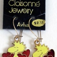 Woodstock with hearts Earrings
