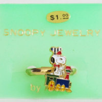 Snoopy train conductor Ring