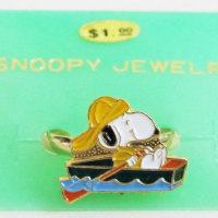 Snoopy in row boat Ring