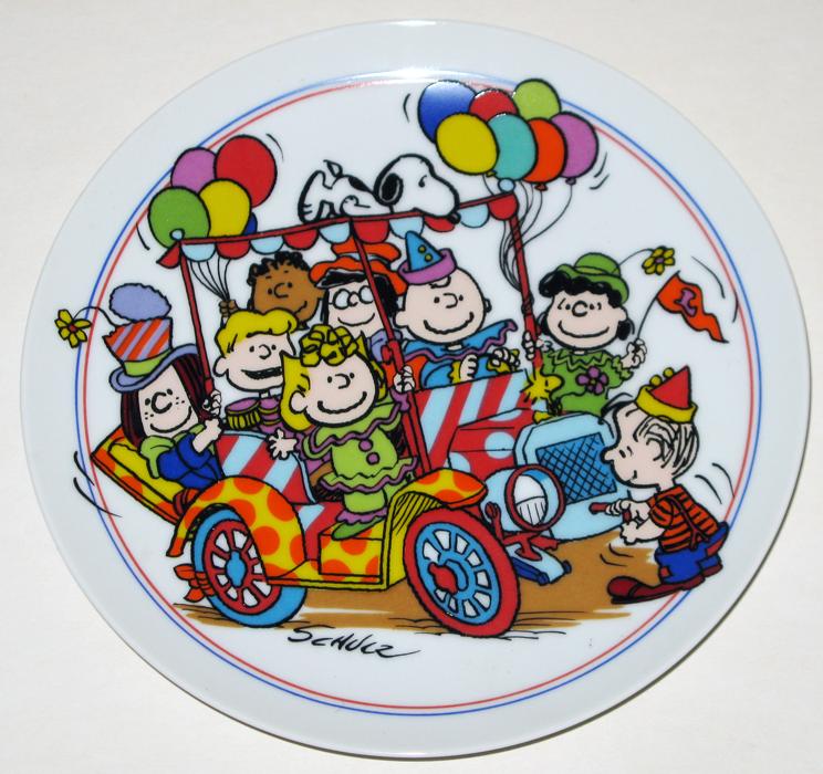 Peanuts Clown Capers Car Plate Collectpeanuts Com