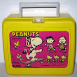 Snoopy Flying Ace on Skateboard Plastic Lunch Box
