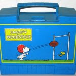 Snoopy and Woodstock Blue Plastic Lunch Box